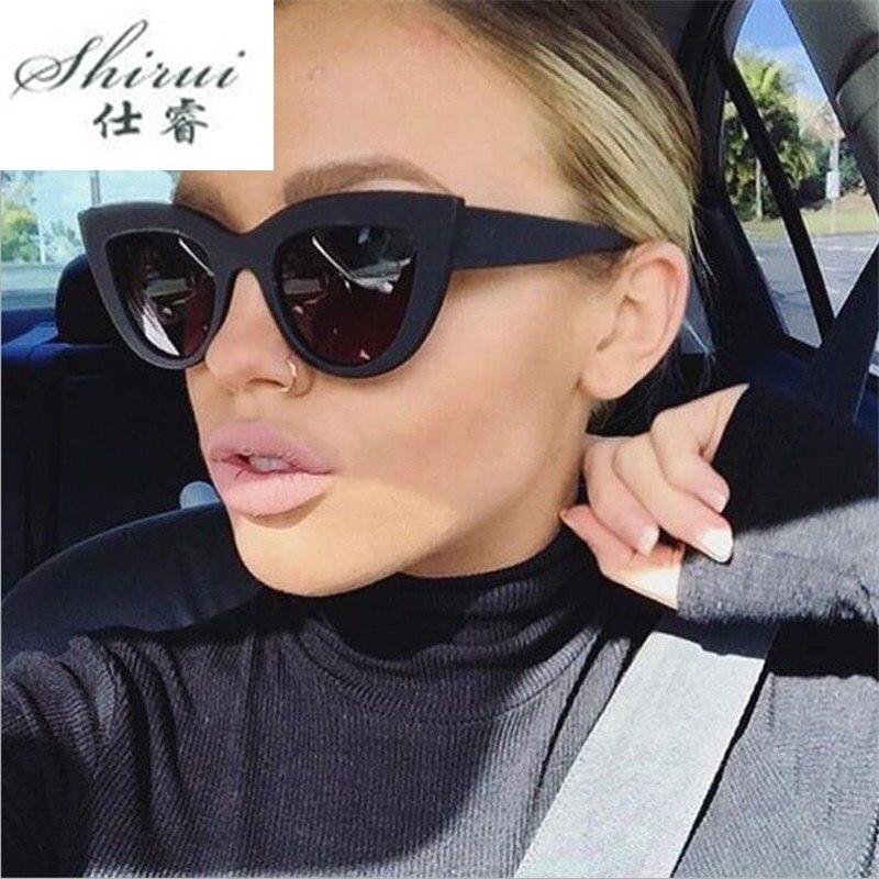 Ladies Cat Eye Sunglasses Women Sun Glasses Thick Frame UV400 Protection Brand Designer Retro Cat Eye Glasses