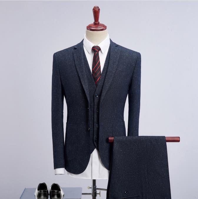 2019 New Style Jacket Men Thicken Single Breasted Winter Woolen Suits Men's Slim Fit Business Wedding Blazer Suit Men Terno