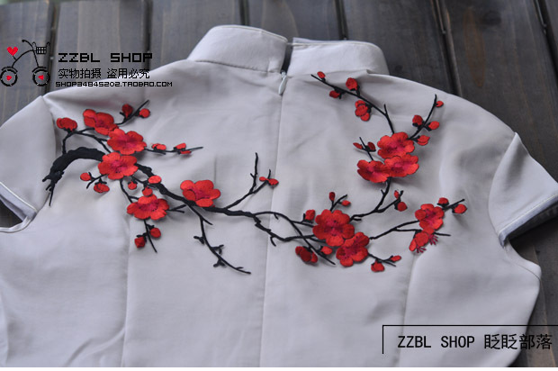 Buy 3 piece lot free shipping beautiful for Applique shirts for sale