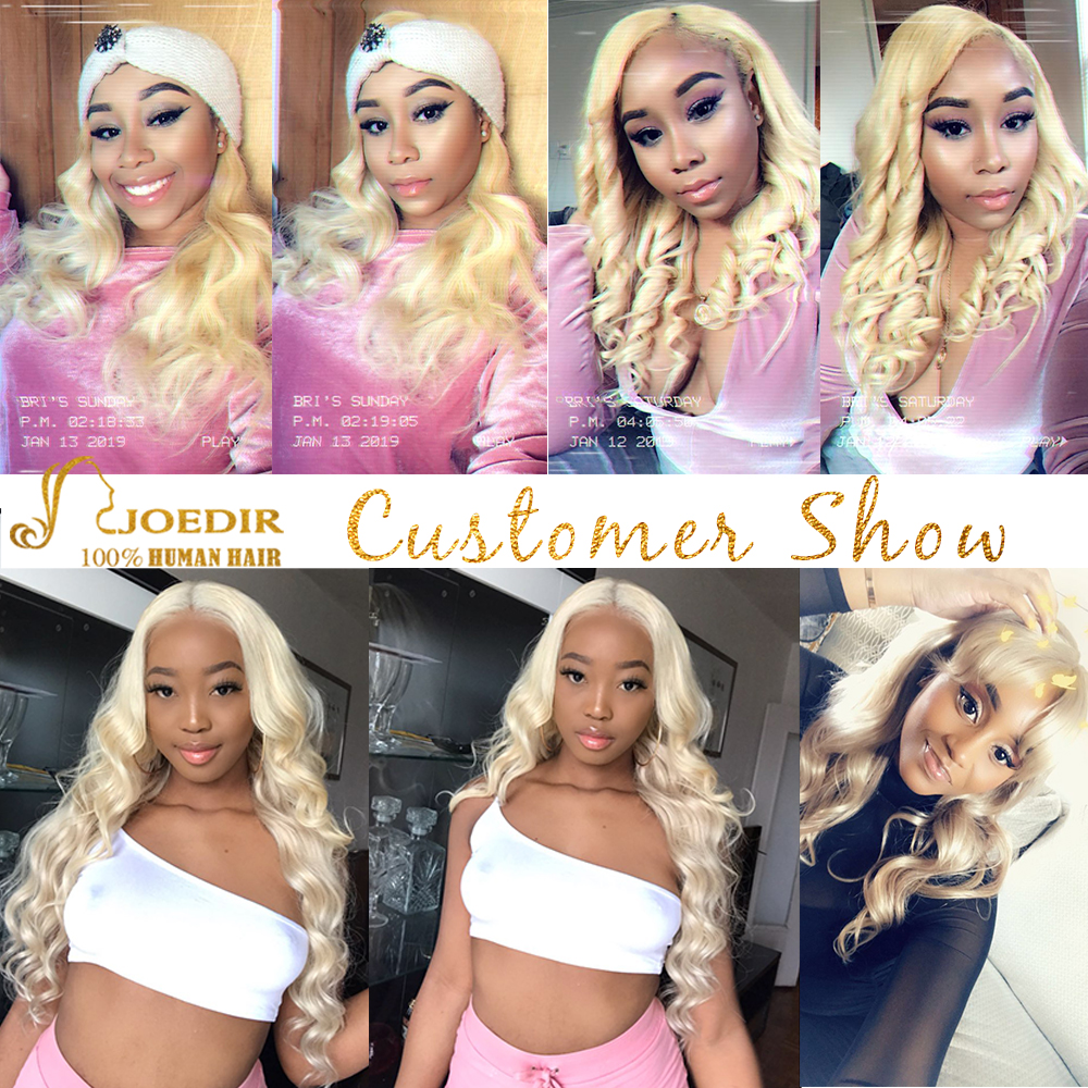 Image 5 - Joedir Hair Brazilian Straight Human Hair Lace Closure With Baby Hair 613 Blonde Color Lace Closure Three Part Remy Hair Weaving-in Closures from Hair Extensions & Wigs