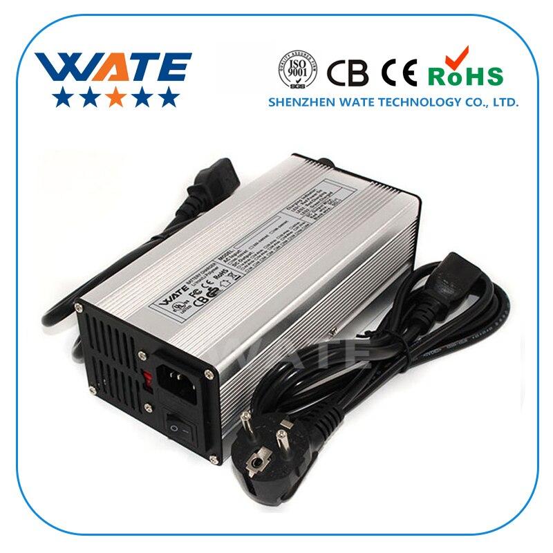 Cargador inteligente de batería de ion de litio de 24V y 29,4 a para 7S 24V batería de ion de litio herramientas inteligentes de parada automática carcasa de aluminio