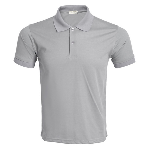 New Gray Polo Shirt Men Polo Homme 2016 Mens Fashion Solid Color Short Sleeve Polo Shirts Summer Style Brand Slim Polos
