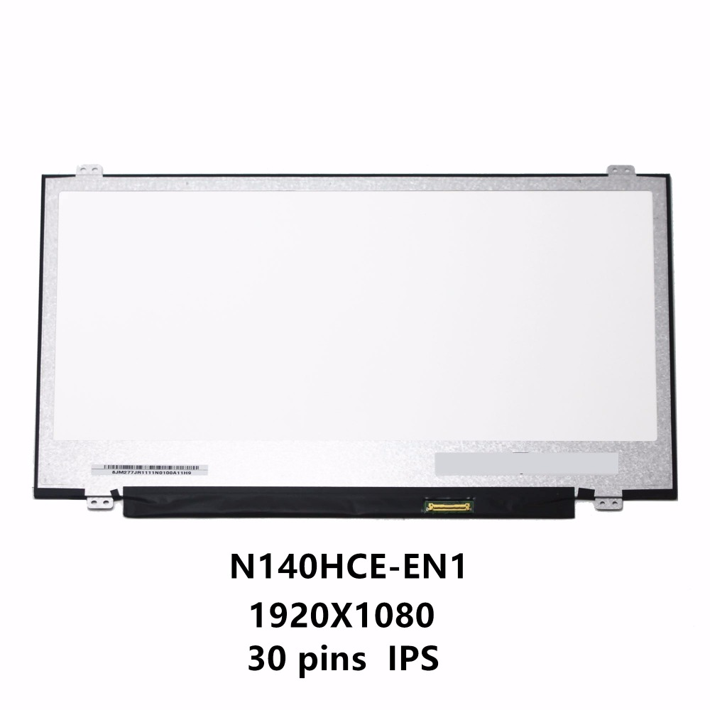 New 14.0'' Slim LCD Screen Display Panel Laptop Matrix Replacement N140HCE-EN1 30 pins eDP IPS High Gamut WUXGA FHD 1920X1080 new 14 0 slim lcd screen display panel laptop matrix replacement n140hce en1 30 pins edp ips high gamut wuxga fhd 1920x1080