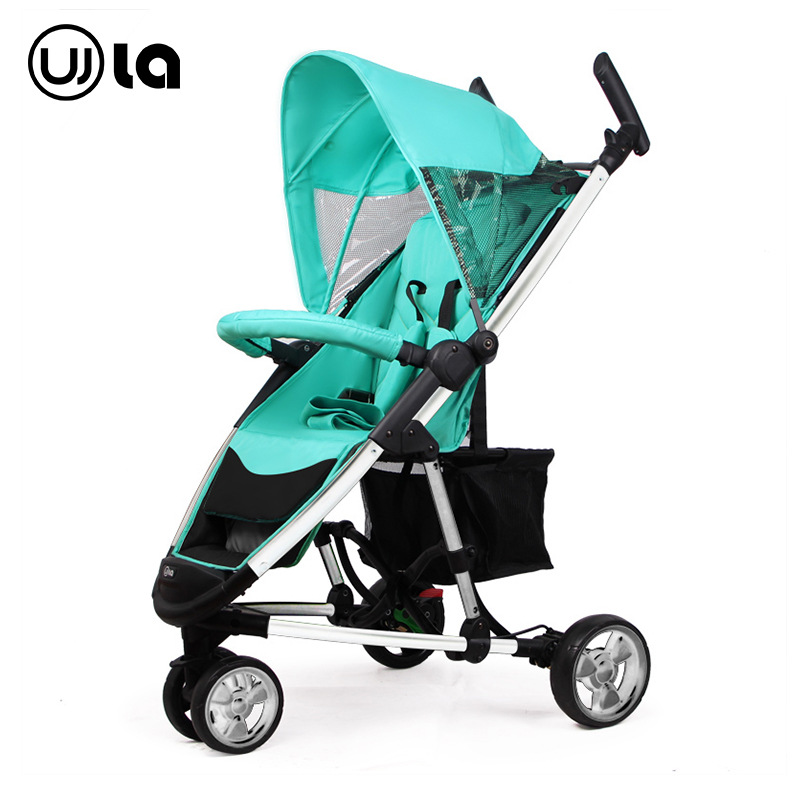 High Landscape Baby Stroller 7.5kg Super Light Folding Tricycle Cart For Newborns twin stroller high landscape can lay the portable folding baby cart