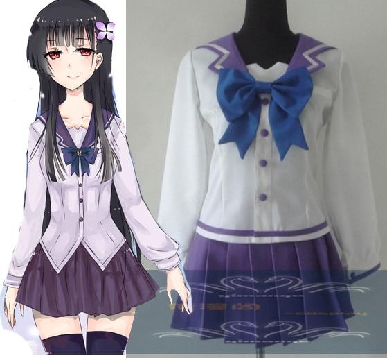 New Free Shipping Anime Sankarea Cosplay Costumes Anime Japanese Girls School Uniform Clothing
