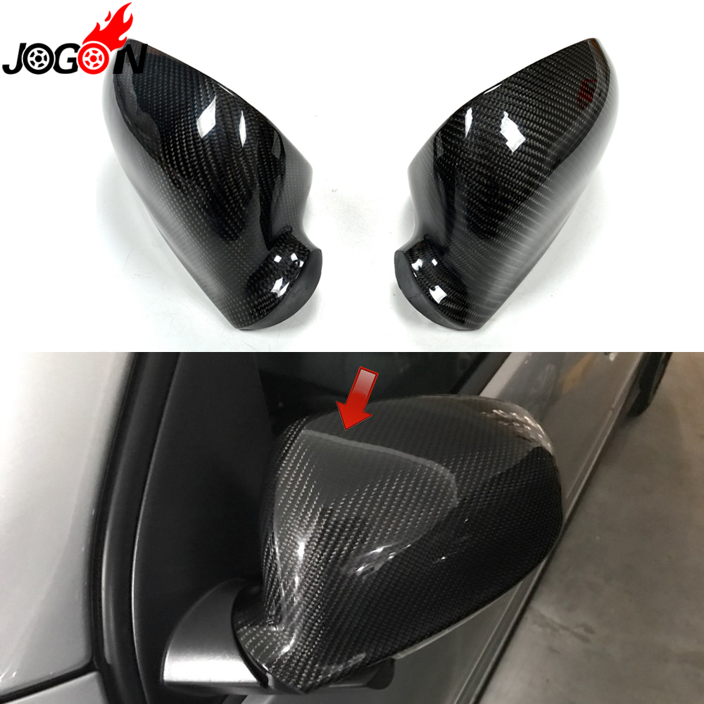 цена на For Volkswagen VW GOLF 5 Plus GTI Jetta MK5 Passat B6 EOS Sharan Superb Side Wing Rear View Rearview Mirror Cover Carbon Fiber