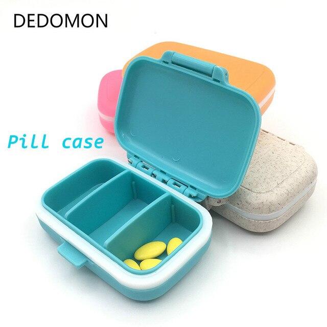 ピルボックスケース丸薬オーガナイザーケースポータブル 7 日 3 グリッド旅行医療薬タブレット収納容器薬箱 Pastillero