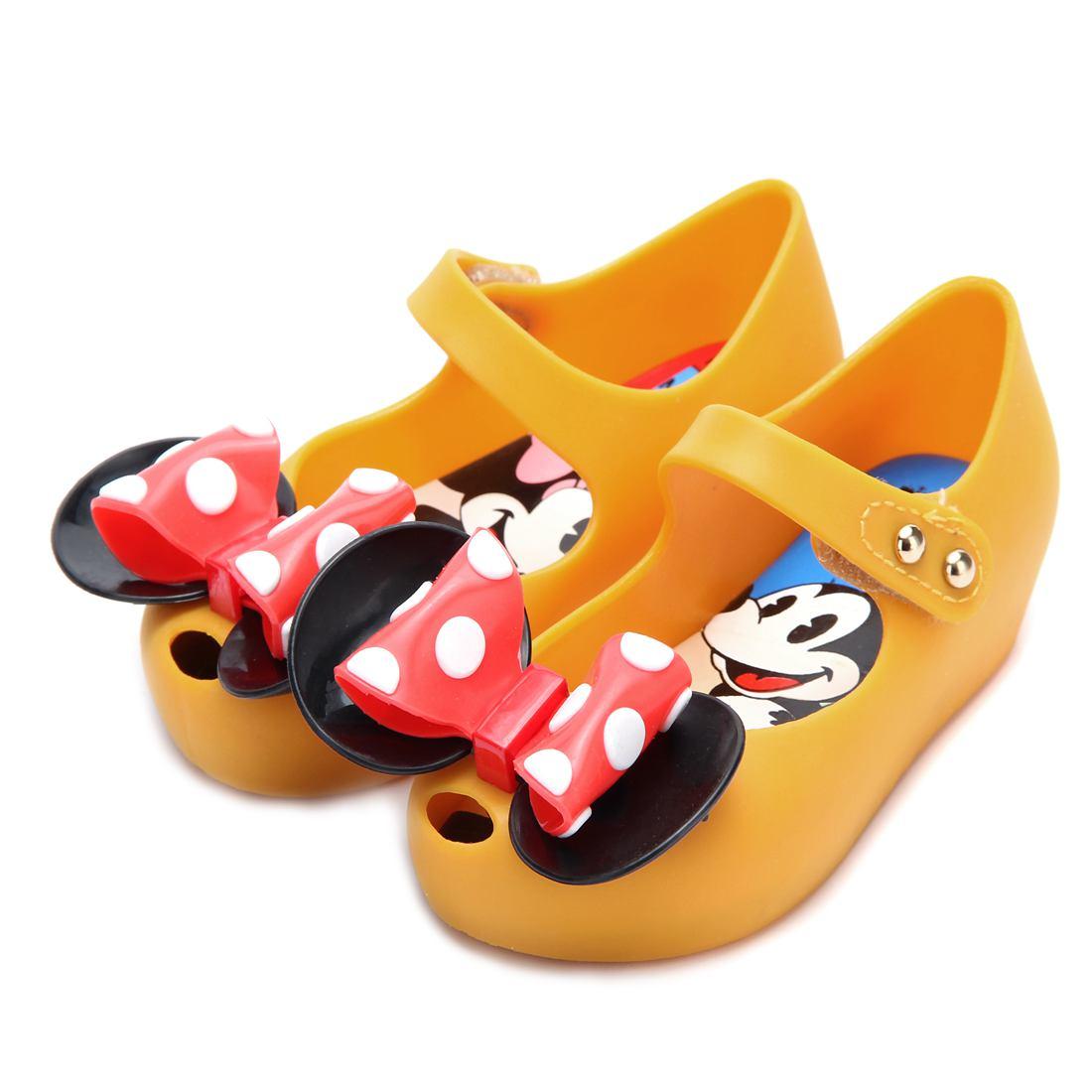 Mini Melissa 2 Layer Bow Mouse Twins Kids Sandały 2018 Nowe zimowe - Obuwie dziecięce - Zdjęcie 2