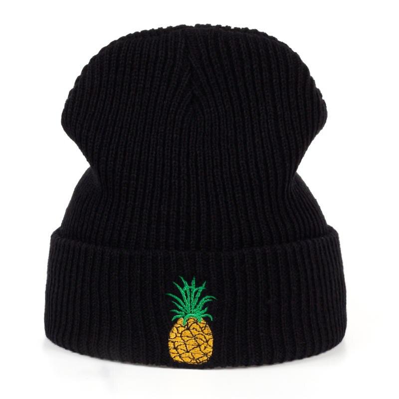 VORON Pineapple Winter Hat Female Unisex Knitted Skullies Knit Casual Hat For Men Women Black Pink Warm Autumn Beanies Caps