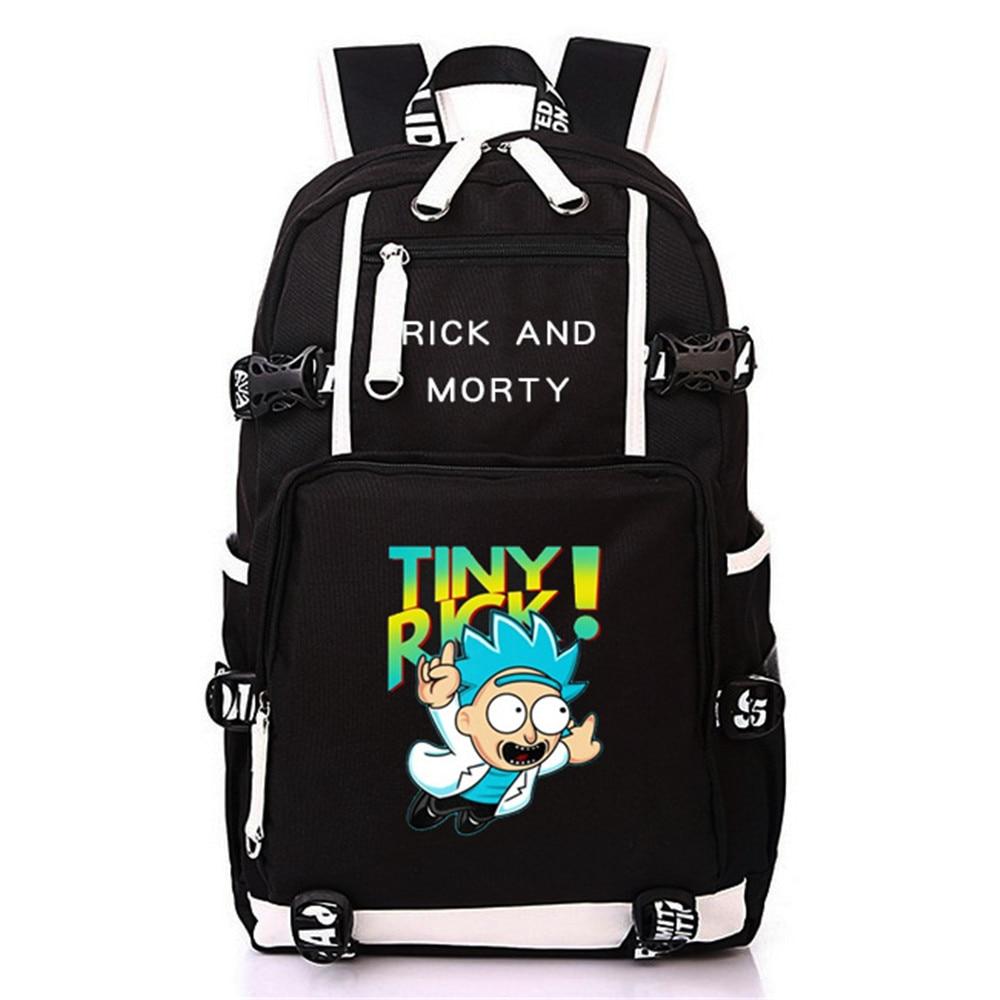 Рик и Морти ноутбук рюкзак плечи дорожные сумки Косплэй Для мужчин и Для женщин студент школьная, для отдыха времени посылка