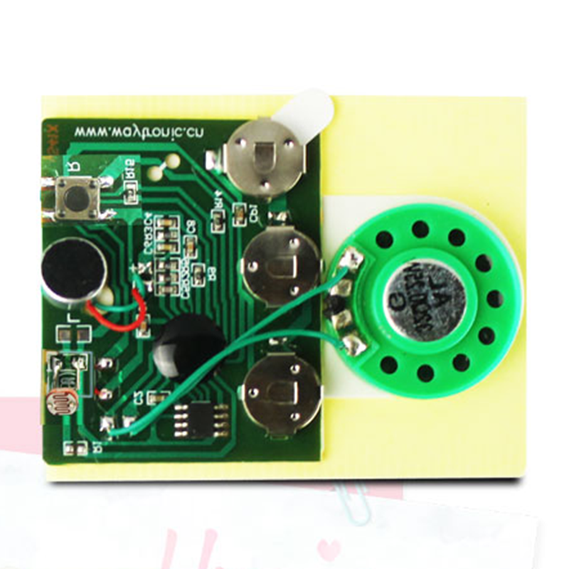 30s Sound Voice Audio Recordable Music Recorder Board Module Chip Programmable Music Module For Greeting Card DIY