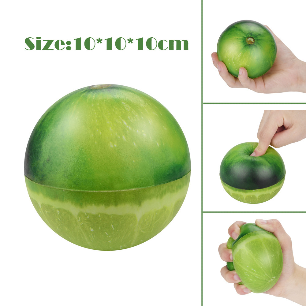 Novelty Gag Toys for Children 10cm Stress Reliever Scented Fruits Super Slow Rising Funny Outdoor Kids Toy Squeeze Toys 2019