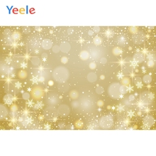 Yeele Yellow Light Bokeh Dreamy Photographic Backgrounds  Birthday Party Snowflake Custom Photography Backdrop for Photo Studio