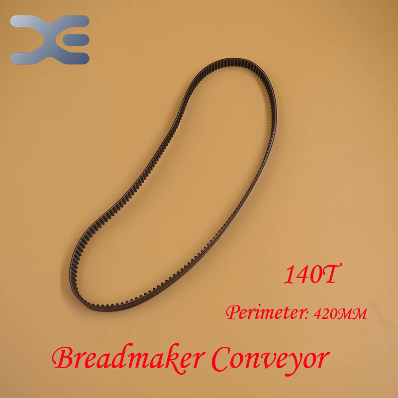 Kitchen Appliance Parts Bread Maker Parts 140T Perimeter 420mm Breadmaker Conveyor Belts Free Shipping 2 pcs high quality kitchen appliance parts for lg with iron bread maker parts bearings rubber ring