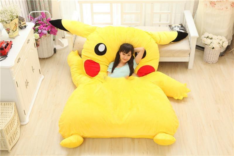 2016 High Quality Soft Huge Funny Pikachu Beanbag With