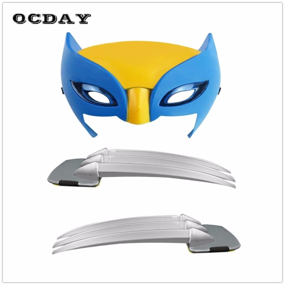Cosplay Toys X-men Mask  Wolverine Claws Anime 25cm ABS Action Figure Toys Biys Toy Long Claws Superhero Weapons Mask Halloween