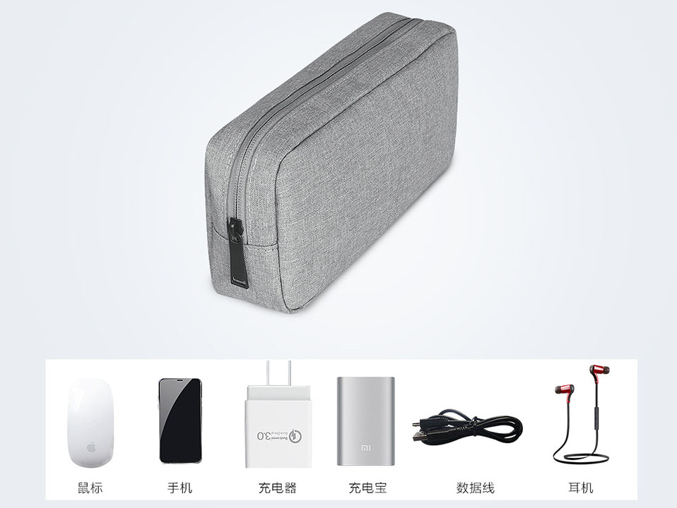 Travel Storage Portable Digital Accessories Gadget Devices Organizer USB Cable Charger Storage Case Travel Cable Organizer Bag (3)