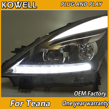 KOWELL Car Styling for Nissan Teana LED Headlights 2008-2012 Altima LED Headlight LED DRL Bi Xenon Lens High Low Beam Parking