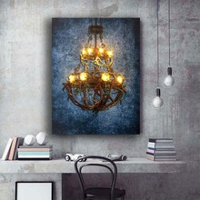 Buy chandelier painting canvas and get free shipping on aliexpress ammywang led wall picture canvas painting printed frame aloadofball Image collections