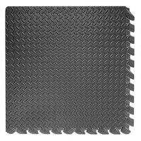 REIZ Yoga Mats Set Of 4/6/8 Pcs EVA Foam Floor Mat Fitness Exercise Gym Playground Black Mat Prevent Slipping Water Resistant