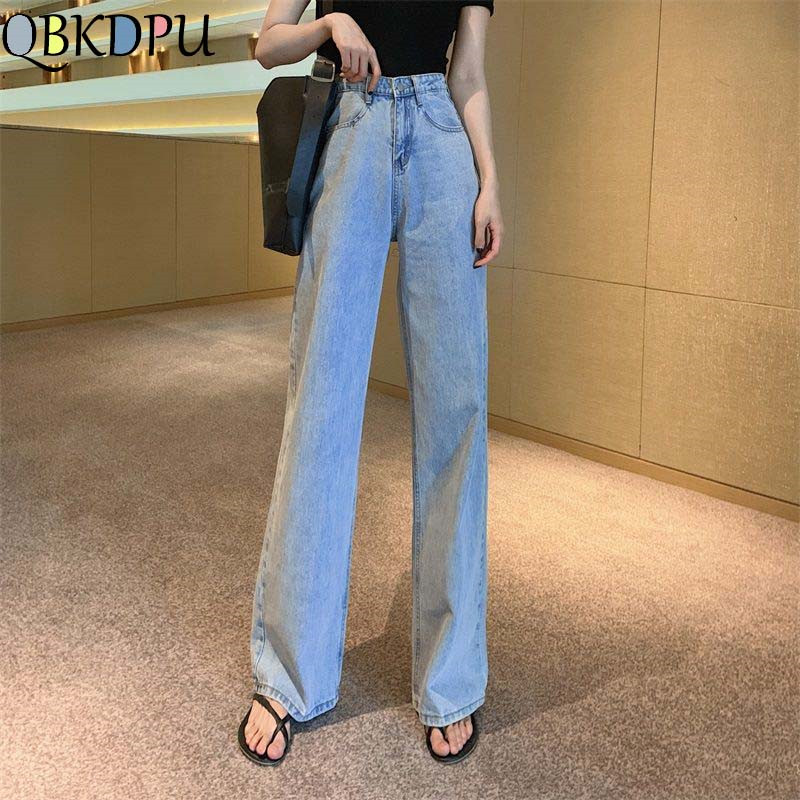Plus Size Women Denim Wide Leg Pants 2019 New Jeans High Waist Trousers Mom's Loose Clothing Casual Bottoms Pantalon Palazzo