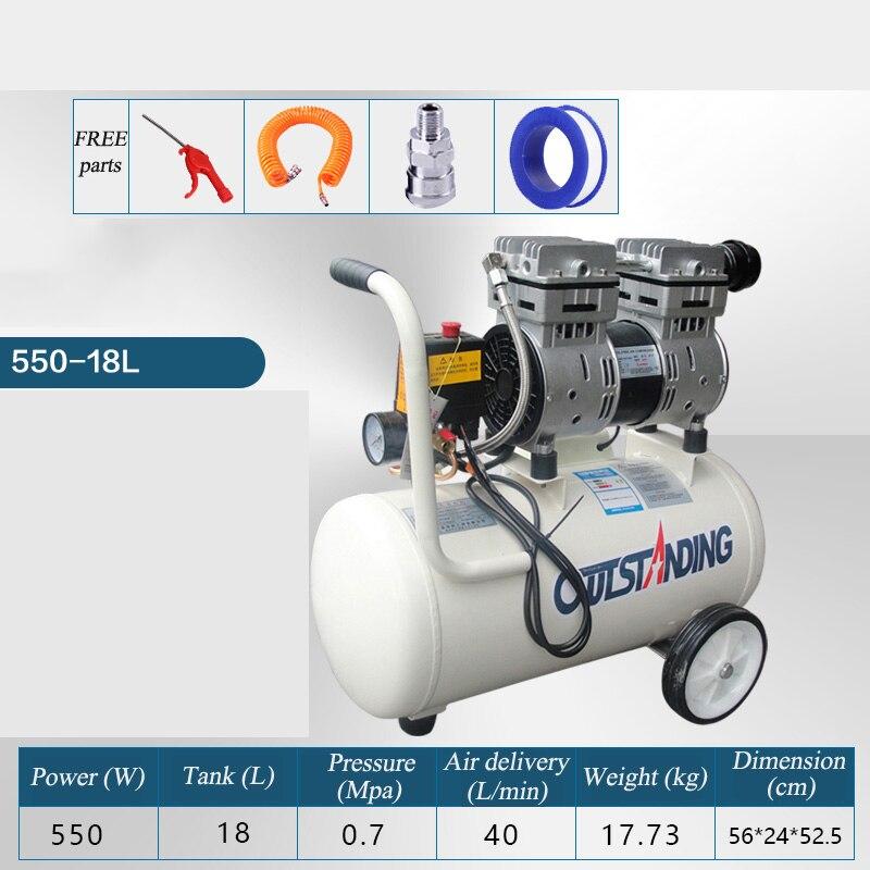 Mini compresseur d'air pression moteur en cuivre compresseur d'air portable petit compresseur pour peinture pompe à compresseur à piston sans huile