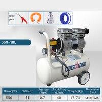 mini air compressor pressure copper motor portable air compressor small compressor for painting oilless piston compressor pump