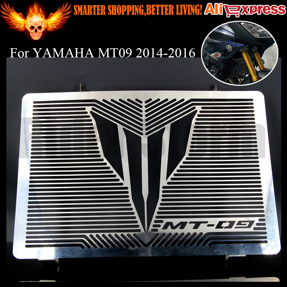 ФОТО 2016 Newest Brand Designer Stainless Steel Motorcycle Radiator Grille Guard Cover Protector For YAMAHA MT09 MT-09 2014 2015 2016