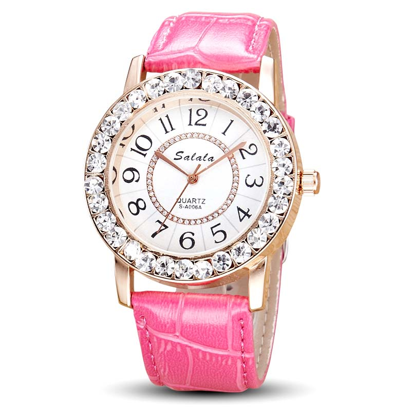 Beautiful latest fashion Chinese ladies watch best quality imported quartz lady watches genuine leather strap watches for women