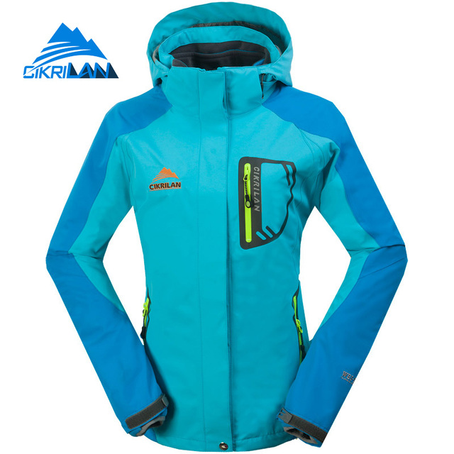 d699e8656 Cikrilan Hot Sale 2in1 Windstopper Hiking Thermal Winter Jacket Women  Outdoor Camping Coat Water Resistant Sport