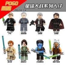 Super Heróis Figuras Star Wars Luke o Grand Moff Tarkin Han Solo Anakin Skywalker Obi-Wan Jedi Aayla brinquedos PG8034