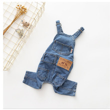 Pet Dog Denim Jumpsuit Clothes For Dogs For Small Medium Dog French Bulldog Shih Tzu Pug Puppy Cat Outerwear Overalls Clothing цена