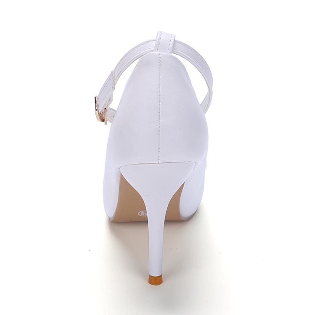 Femmes blanc Parti rose Marche De Sexy Pointu Noir Mujer Mariage Bout Chaussures Pompes Léger Talons Zapatos Mince aZvzxnqarW