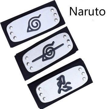 Anime Naruto Cosplay Bandeau Prop Sasuke Uchiha Itachi Kakashi Pein Noir Bleu Konohagakurenosato naruto Bandeau accessoires