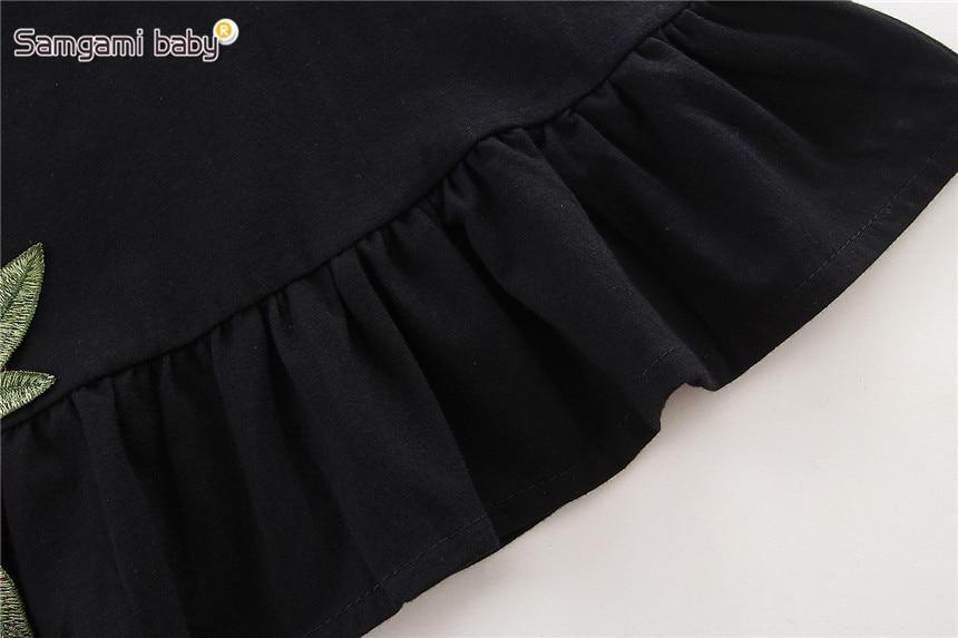 SAMGAMI-BABY-New-Embroider-Design-Black-Short-Sleeve-Dresses-Fashion-Cute-Girls-Clothes-Summer-Toddler-Girl-Dresses-Size-80-120-5