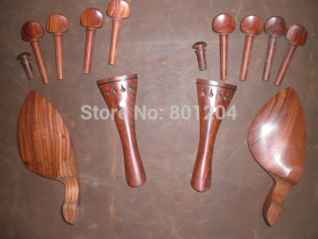 7 Sets Quality 4/4 rose WOOD Violin parts including Chin rest tail piece & pegs end pin7 Sets Quality 4/4 rose WOOD Violin parts including Chin rest tail piece & pegs end pin