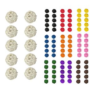 10 Pieces Colorful Round Ratta