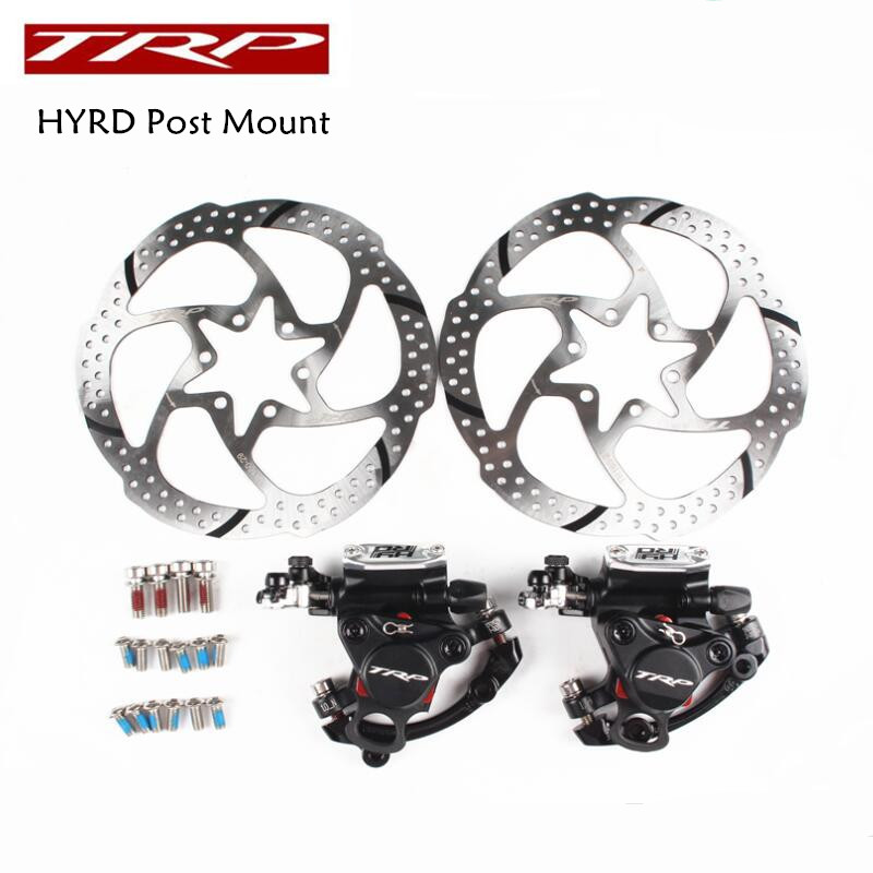 TRP HY/RD Post Mount Cable Actuated Hydraulic Disc Brake Caliper 160mm w/ or w/o Rotor Front / Rear / Set HYRD ROAD MTB Caliper