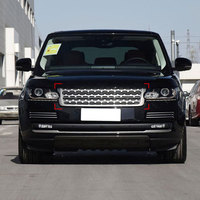 Новинка! ABS черный глянец передней решетки отделкой Запчасти для авто для Land Rover Range Rover Vogue 2013 2017 стайлинга автомобилей