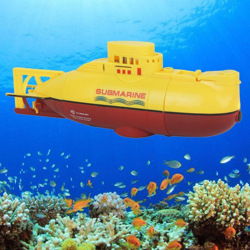MiNi sous-marin à distance jouet bateau modèle profondeur 360 ° Rotation 6CH 40 mhz/27 mhz RC sous-marin enfants jouets peuvent être chargés
