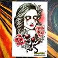 Временная татуировка SHNAPIGN, наклейка для боди-арта, 12*20 см, водостойкая, хна, безболезненная, ненастоящая наклейка
