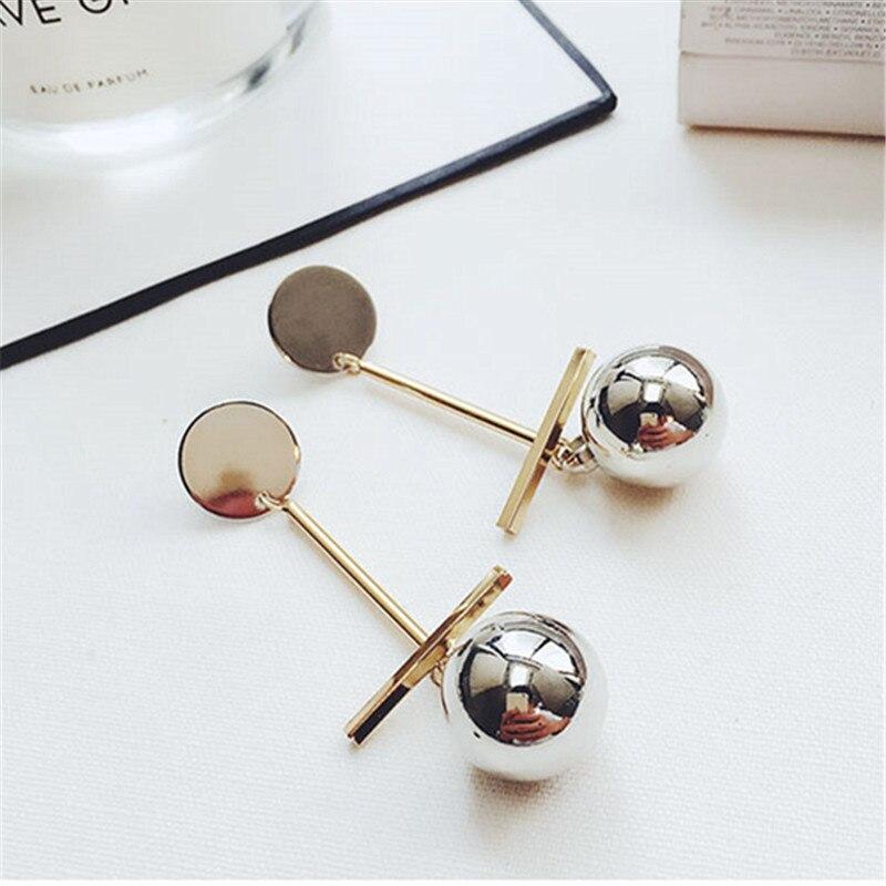 Γυναικεία κοσμήματα μόδας joker φίλτρο ξαναγέμισμα μια λέξη μακρύ ιδιοσυγκρασία θηλυκά σκουλαρίκια σκουλαρίκια Γύρος σκουλαρίκι από μέταλλο +