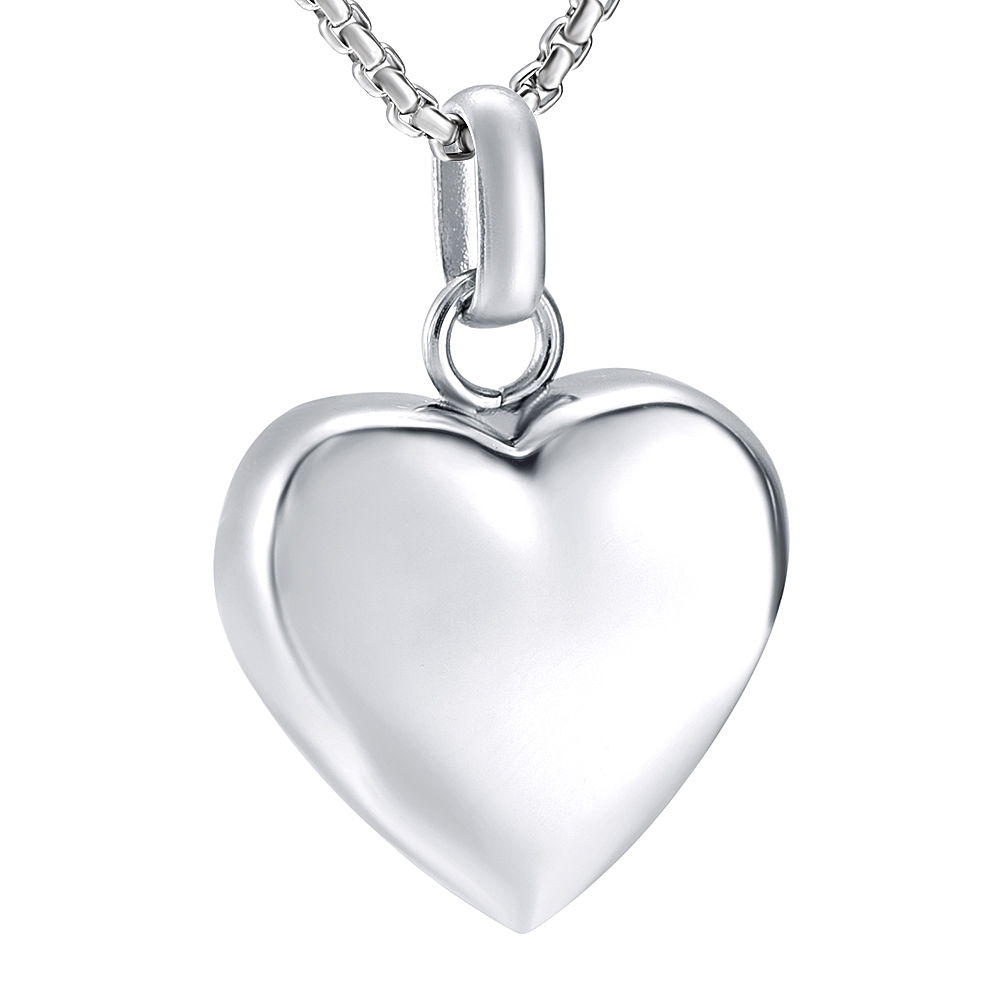Heart Cremation Jewelry Stainless Steel Memorial Urn Necklace Ashes Holder Keepsake Funeral Mini Cakset