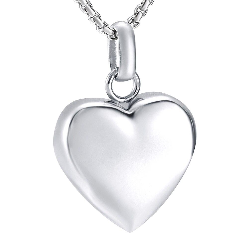 Joyería de cremación en forma de corazón de acero inoxidable collar de urna en memoria de cenizas-in Collares colgantes from Joyería y accesorios    1