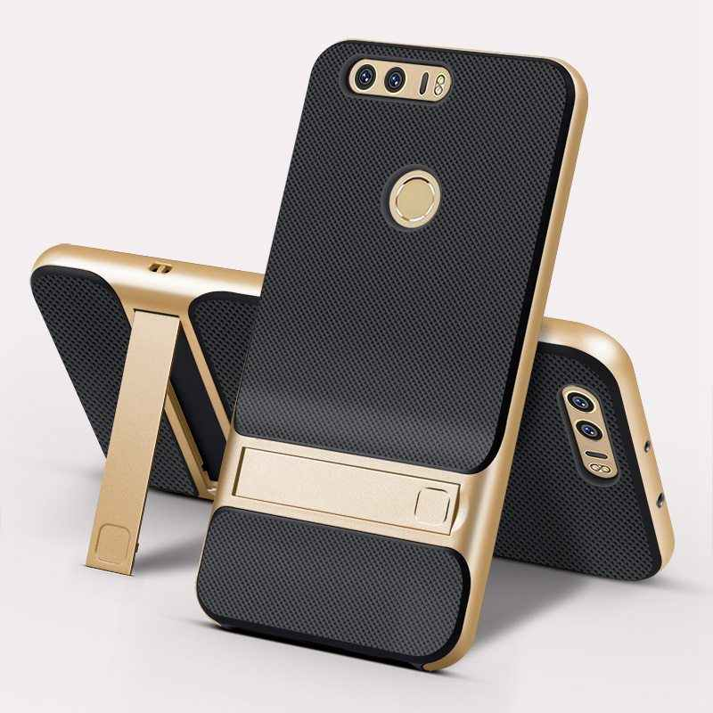 For Huawei Honor 8 Case 5.2 inch TPU + PC 2 in 1 Phone Cases Ultra Thin Phone Stand Cove For Huawei Honor 8 Case