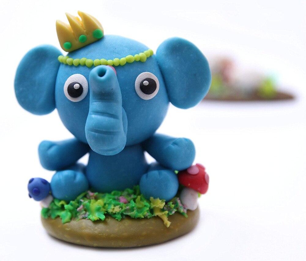 24 couleurs polymère argile bricolage doux modélisation argile ensemble avec 5 pièces outils boîte-cadeau pour enfant non toxique Slime jouets malléable - 5