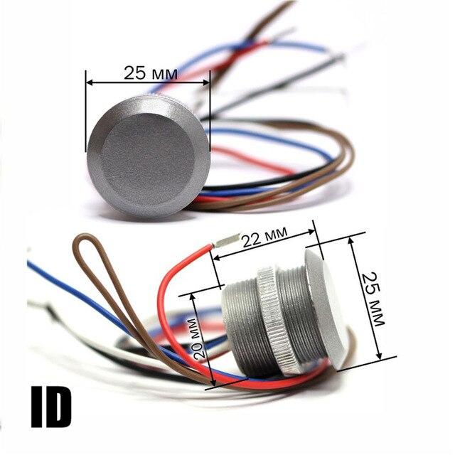 Kostenloser versand 125Khz RFID kompatibel EM Marine Kleine Mini karte wiegand26 ID Reader + 1 stücke EM4100 keyfobs