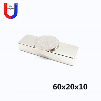 6/10/50pcs 60x20x10 magnet large square cuboid 60x20x10 mm magnet permanent material rare earth 60*20*10 neodymium magnet strong