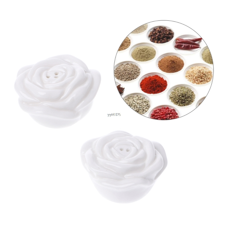 Spice Jar Seasoning Box Kitchen Spice Storage Bottle Jars Ceramic Salt Pepper Cumin Powder Box Tool Mar
