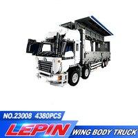 Lepin 23008 4380Pcs New Technical Series The MOC Wing Body Truck Set 1389 Educational Building Block Bricks Children Toys Gift